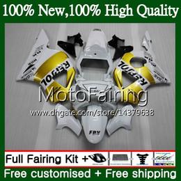Honda cbr gold on-line-Corpo Para HONDA CBR900RR CBR 954 RR CBR900 RR CBR954RR 02 03 41MF12 CBR954 RR CBR 900RR CBR 954RR 2002 2003 Repsol ouro Fairing Carroçaria