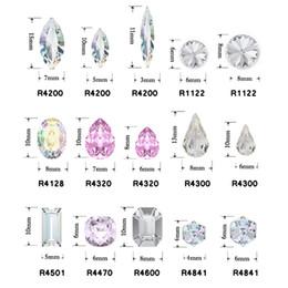 Diamantes de imitación de lujo online-12pcs Navette, cubo, Rivoli, Gota, Rectángulo, Cuadrado 3D Nail Art Decoración Cristal Fancy Diamond Jewelry DIY Belleza Rhinestones