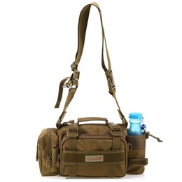 Wholesale Lure Bags - Fishing Tackle Bag Multifunction Outdoor Sport Messenger Bag Lure Waist Pack Fishing Tackle Handbag