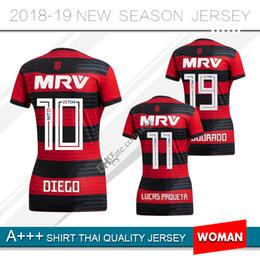18 19 flamengo jersey 2018 2019 mulheres Flamengo GUERRERO DIEGO VINICIUS  JR camisas de futebol Flamengo mulher casa red black camisa de futebol  uniforme 4dc4880cf23c5