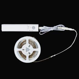 automatische sensorleuchten Rabatt Bewegung aktiviert unter Bett Beleuchtung Flexible LED-Streifen-Bewegungs-Sensor-Nachtlicht-Nachttisch-Lampen-Beleuchtung und automatische Abschaltung Timer
