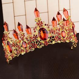2019 coroa vermelha para a noiva Red Silver Bridal Luminous Crown Mulheres Brithday Partido Decoração Do Cabelo Do Casamento LEVOU Luz Tiara Da Noiva Da Rainha Da Coroa Da Menina Do Natal coroa vermelha para a noiva barato