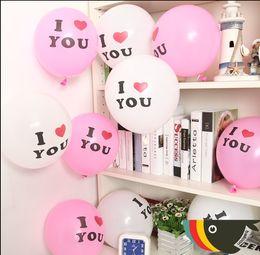 """100pcs nouveau 12 """"je t'aime anniversaire décoration de fête de mariage latex ballons de qualité à l'hélium ? partir de fabricateur"""