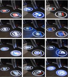 Argentina CREE LED Proyector Luces de la puerta del coche Shadow Puddle Cortesía Laser LOGO Lámpara para BMW Volkswagen Audi Volvo Land Rover Cadillac Soporte OEM Suministro