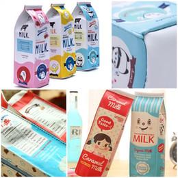 scatola di immagazzinaggio di kawaii Sconti Carino Corea Kawaii Sacchetti di Trucco Cuoio Scatola di Latte Penna Matita Caso Sacchetto Dell'organizzatore di Immagazzinaggio Per Bambini Regali