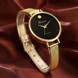 2019 женва смотреть женщины розовые Женева из нержавеющей стали наручные часы розовый ручной часы дамы платье женщины подарок 30 м водонепроницаемый часы Кварцевые часы для взрослых подарок скидка женва смотреть женщины розовые