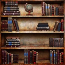 fond d'écran Promotion Laeacco Vintage Bibliothèque En Bois Livres Scène Photographie Toiles de Fond Toile De Fond Personnalisé Caméra Arrière-plans Pour Photo Studio