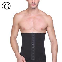 Wholesale tummy girdle waist trimmer - PRAYGER Men Slimming Waist girdle hook confirm belly belt tummy trimmer Breathable Mesh waist Cincher control abdomen wrap