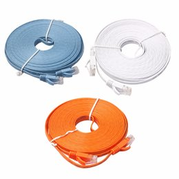 Wholesale Flat Network Cable - Ethernet CAT6 Internet Network Flat Cable Cord Patch Lead RJ45 For PC Router