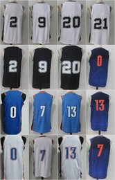 Wholesale Flash 13 - 2018 New 0 Russell Westbrook 7 Carmelo Anthony 13 Paul George 2 Kawhi Leonard 9 Tony Parker 20 Manu Ginobili 21 Tim Duncan Men Embroidery