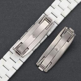 Argentina TJP Reloj accesorios Para 7mm 9mm J12 cerámico hebilla de reloj de acero inoxidable hebilla de mariposa accesorios Suministro