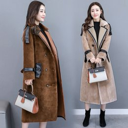 Wholesale Sheep S Wool - High Quality 2017 Autumn And Winter Sheep Shearing Fur Coat Women Long Sleeve Double-breasted Lambs Wool Coat