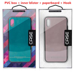 Caixa de empacotamento da bolha iphone on-line-Luxo pvc caixa de telefone caixa de embalagem de plástico com inner blister paperboard gancho para iphone 8 7 6 s 6 mais 5.5 polegada x samsung s8 + note8