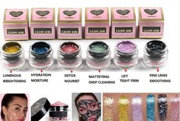 Wholesale Glitter Masks - High quality GLOW JOB 6 colors Radiance Boosting give yourself a glow job mask Glitter face mask soft facial mask free shipping