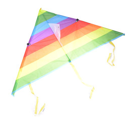 Wholesale Kite Stunt - Children's Kite Stunt Kite Surf without Control Bar and Line Outdoor Long Tail Kites Nylon Rainbow Toys for Kids