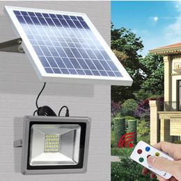 Wholesale Solar Floodlighting - Solar Powered Panel Flood Lights 10W 20W 30W 50W with Remote Control Outdoor Flood Lights Solar Floodlight Garden Street Light