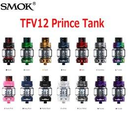 Wholesale Bearings Wholesale - Original SMOK TFV12 Prince Cloud Beast Tank 13 Colors 8ml Sub Ohm Atomizer Wide Bore Drip Tip Fit V12 Q4 X6 M2 T10 Coil 100% Authentic
