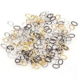 Salto anelli oro online-1000pcs / lot Jumpping Rings Bronzo antico / argento oro aperto metallo salto anelli spaccati risultati dei monili fai da te per le donne uomini