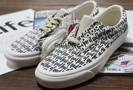 Sapatos visvim on-line-Medo de Deus sapatos de Lona Nevoeiro 2017 Vetements Sapatos Casuais VisVim Moda Sneakers MEDO DE DEUS x Era 95 Reemit ...