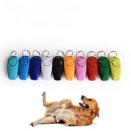 bague de chien en plastique Promotion Chien Ringing Pet Anneau Whistling Chiens Sifflet Clé Boucle Animaux Multcolur En Plastique Scratch Résistant Entraînement Outils 1 98fx gg