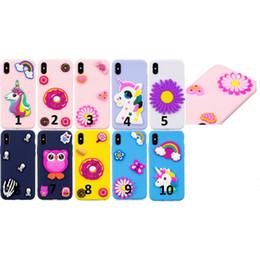 iphone couvre crânes Promotion Etui en silicone souple 3D Licorne pour Iphone X 8 7 Plus 6 6S SE 5 pour Huawei P20 Pro Lite couverture de peau de papillon de fleur