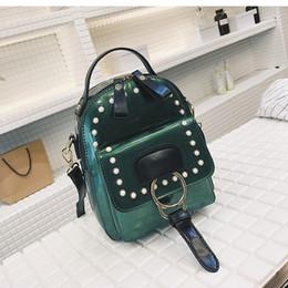 Nuova cerniera a mano in vernice in stile giapponese e coreano Due spallacci Perline Paillettes nero Oro Verde Colore argento da borse in pelle verniciata verde fornitori