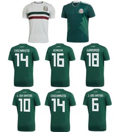 Wholesale Mexican Sweaters - Best Thai Quality Cheap Camiseta de futbol World cup 2018 football jersey Mexico CHICHARITO Mexican Soccer Jerseys sweater Free shipping