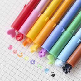 40 Pcs Lot 2 In 1 Stamp Highlighter Marker Brush Pen Color Fine Gel Cute Stationery Office Accessories School Supplies F775 Supplier Markers