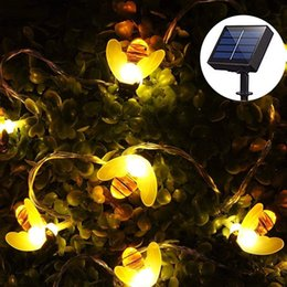 Decorative Solar Lights Outdoors Coupons   Solar Powered Honey Bee String  Lights 10LED 20LED 30LED Starry