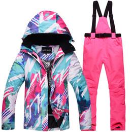 73cf12810f45d Satış profesyonel kışlık giysiler internet üzerinden - Yüksek kalite kış  profesyonel kayak giyim bayanlar açık rüzgar