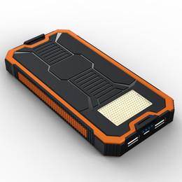 Imperméable à l'eau solaire Banque Réel 20000 mAh Double USB Chargeur de Batterie En Polymère Externe Lampe Extérieure Powerbank Ferisi ? partir de fabricateur