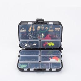 caixas de vermes de pesca Desconto Limpar Plástico Alto Selo Caixa de Isca De Pesca Chumbo Conjunto Enrolado Verme Gancho De Armazenamento 128 pcs Acessórios Terno artigos Multi Função 27ls bZ