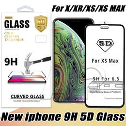 5D Verre Trempé Pour Iphone XR XS MAX X 8 Plus Film Protecteur D'écran Incurvé Pleine Couverture 3D Bord ? partir de fabricateur