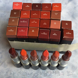 russian red lipstick Promo Codes - Matte Retro Lipstick Luster Lipstick 27 colors Aluminum tube lipstick TWIG MOCHA RUSSIAN RED DUBONNET Drop Ship J1028