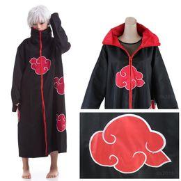 vestido cosplay pikachu Desconto Venda quente Anime Naruto Akatsuki Manto Traje Cosplay Halloween Festa de Natal Capa Cape Unisex
