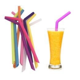 Canada 10 pailles flexibles de silicone meilleures pailles à boire de Smoothie réutilisables sans caoutchouc sans BPA pour des tasses de tasse de Tumbler Offre