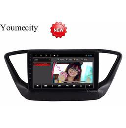 honda civic car dvd gps player Скидка Octa Core 32G ROM Android 8.1 Автомобильный DVD-плеер для GPS-приемника Hyundai Solaris 2017 2018