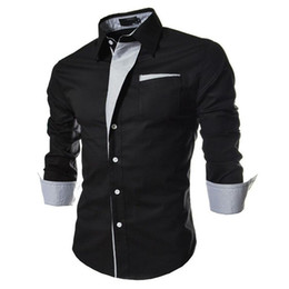 men s striped tuxedo Coupons - 2018 New Arrived Fashion Striped Shirts Mens Casual Brand Quality Luxury Tuxedo Office Slim Fit Long Sleeved Men Shirt Camisas