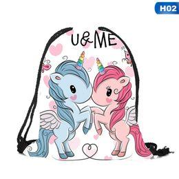 6953e1d3f1 New Cute Kid Baby Unicorn Pattern Sport Bags Swimming Bags Gym Pump Bag  Sports School Drawstring Boy Girl Backpack Hot Sale