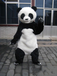 Wholesale panda mascots - Hot high quality Real Pictures panda mascot costume Adult Size free shipping