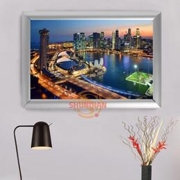 Wholesale Custom Framed Art - Home Decoration Singapore Canvas Art Poster Photo On Canvas Custom Pictures Frame H0317EC45