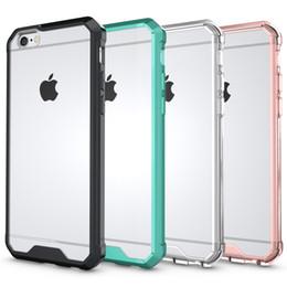 Canada Housse Acrylique Antichoc Hybride Pour Iphone X 8 7 Plus 6 6s Galaxy S9 S8 Plastique Dur + Doux TPU Clair Cristal Double Or Rose Gel Couverture De Peau Offre