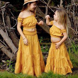 Faldas occidentales princesa online-Everweekend Sweet Girls Ruffles Candy Color Faldas Pink Mint Yellow Color Moda Summer Princess Western Fashion Faldas