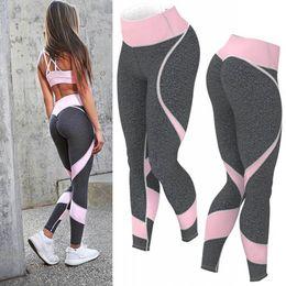 335842ee0939b 2019 vêtements de sport femme de mode Mode Patchwork Bodybuilding Slim  Legging Pantalons Sportswear Pour Fitness