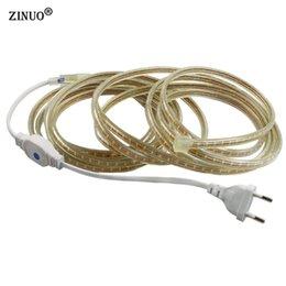 Wholesale Led Ip67 Plug - ZINUO 5M 10M 15M 20M 30M 50M Led Strip 3014 220V Waterproof With EU Power plug IP67 120Leds M Flexible LED Tape Ribbon Outdoor