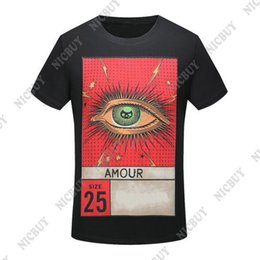 Wholesale photo print sleeves - fashion Designer luxury Brand for men T-shirt 2018 spring Summer AMOUR size 25 photo eyes letter print tshirt women Tee Casual Top shirt
