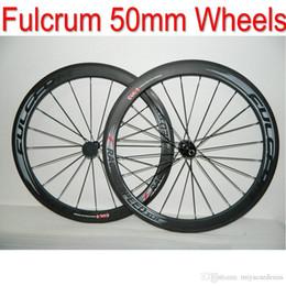Wholesale Bike Carbon Wheels Sale - NEW SALE !!! Fulcrum Full Carbon 50mm Bike Wheels 700C Clincher bicycle wheelset + spokes+ hubs Fast shipping