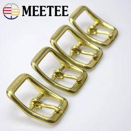 Wholesale Brass Needles - 4PCS lot Inner diameter 13mm 16mm 20mm 25mm Pure brass Bag accessories belt buckle head needle pants wholesale