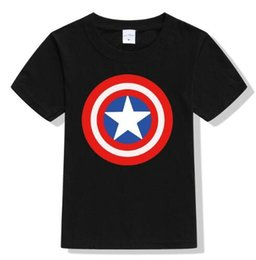 Wholesale Baby Spiders - 3-10Y children Boys Summer Spider-man T Shirt Boy Spider Man T-shirt Kids Cotton Fashion baby Top Spiderman Tee 2017 New Arrival