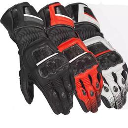 Guantes blancos de moto online-WILLBROS Dain Motorcycle Pro Druids ST Guantes de fibra de carbono para motos Off-Road Racing Rojo / Blanco / Negro MOTO GP gloves